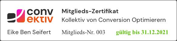 convektiv Zertifikat